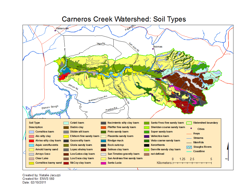 Carneros watershed map of soil type ecoviz wiki for Kinds of soil wikipedia
